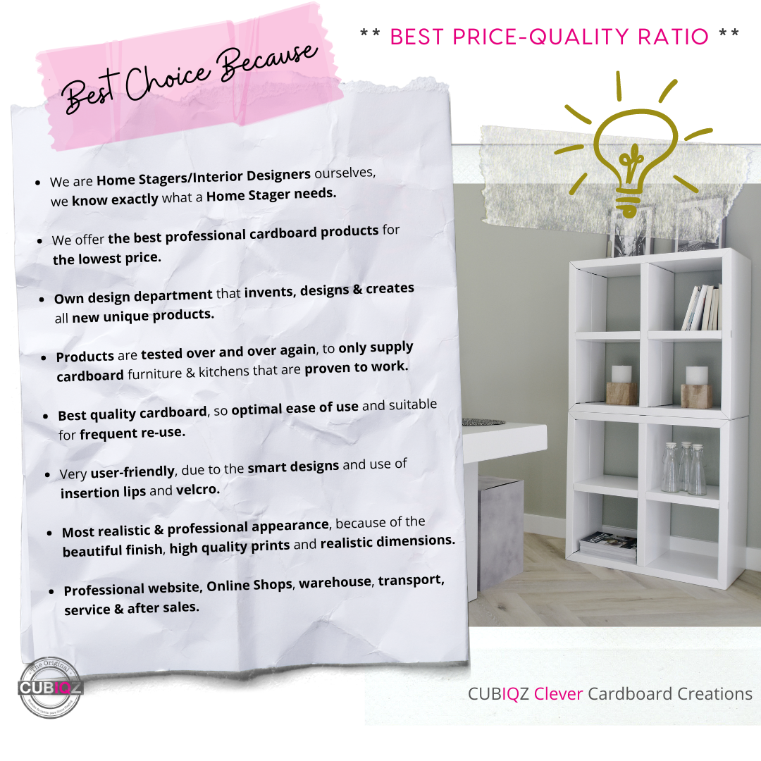Best choice because…; cubiqz cardboard furniture and cardboard kitchens
