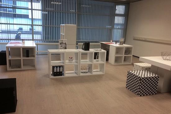 LUUCK modular cardboard furniture for Office Staging