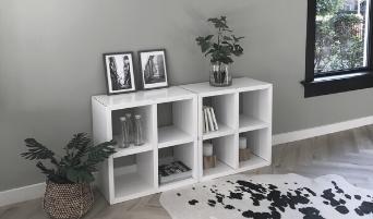 LOOKBOOK cubiqz cardboard dinner table + concrete stools