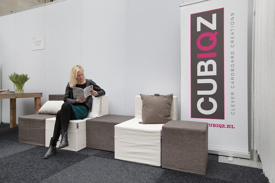 CUBIQZ cardboard modules for real seating